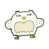 comic cartoon suspicious owl