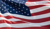 Windswept American Flag