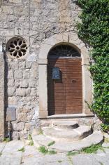 Wooden door. Viterbo. Lazio. Italy.