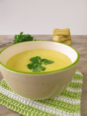 Corn soup and small corn breads