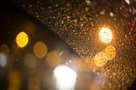 rainy night traffic background