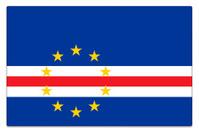 Gloss flag of Cape Verde on white