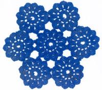 Blue Circle Lace