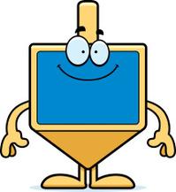 Happy Cartoon Dreidel