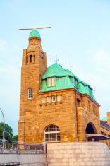 part of the famous Landungsbruecken in Hamburg