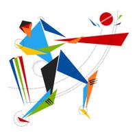 Cricket Batsman Vector Art