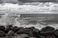 Stones on the beach. Baltic Sea.