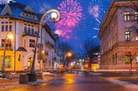 New Year firework display in Zakopane