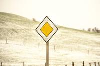 Traffic sign priority road