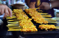 Pork fired Thai Style or Thai Pork Satay, 'Moo Satay'