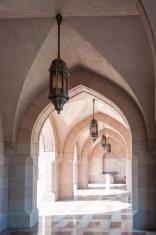 Courtyard Sultan Qabooos mosque Muscat, Oman