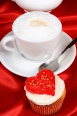 Valentine's day romantic breakfast