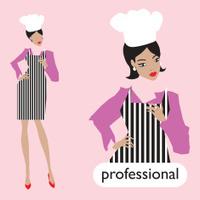 Professionl, female chef set