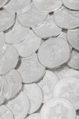 Silver Coins Background