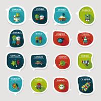 Space speech bubble flat design background set, eps10