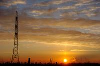 Pylon in silhouette