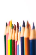 macro colored pencils
