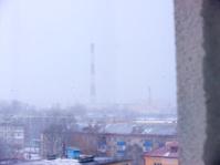 Factory chimneys.