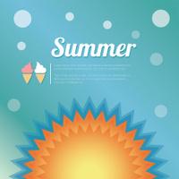 Summer holiday card, vector