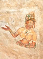 5th Century Sigiriya Rock Cave Wall Paintings, Sri Lanka