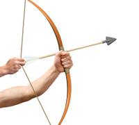 Archer preparing to release arrow