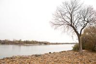 Wascana Lake in Regina after a late fall snowfall