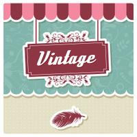 Vintage retro hipster label, typography, geometric design elemen