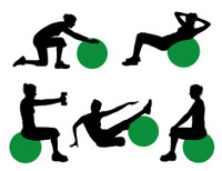 Exercise Ball Silhouette Series