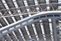 Curving ceiling structure