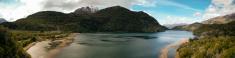 lake panoramic in esquel argentina patagonia