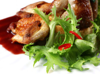 Quail fried meat