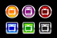 Metallic Glossy Icon | TV