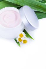 Organic skincare creams with camomile