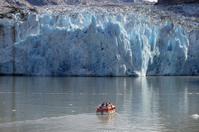 Dawes Glacier with boat