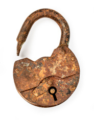 Old open padlock