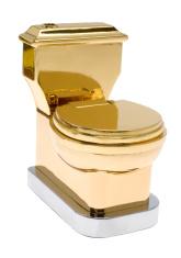 goldene Toilette