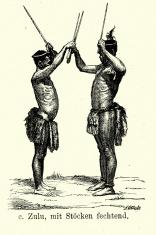 19th Century Africa -  Zulu fencing sticks
