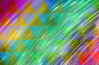 Rainbow Light Trails in Triangles Grid