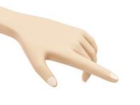 Hand Touching Something isolated on white background