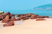 beautiful deserted beach Cola in South Goa