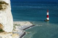 Beachy Head. Chalk cliffs and Lighthouse