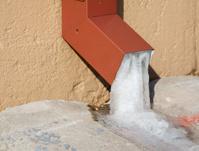 Ice in Rain Gutter