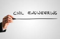 Man writing the words Civil engineering