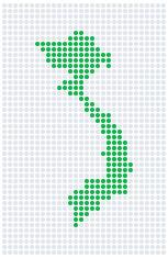 Vietnam Pop Map ( Vector )