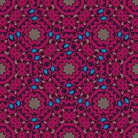 Vintage purple seamless pattern with filigree circles mandala ve