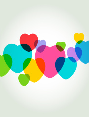 Transparent valentines hearts