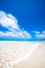 Tropical white sand cay beach in Los Roques Venezuela