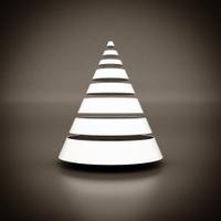 white geometric figure