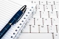 Notebook on keyboard