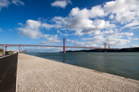 Lisbon Portugal 25th April suspension Bridge